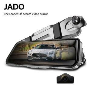 Image 1 - JADO D820s X1 voiture Dvr flux rétroviseur caméra tableau de bord avtoregistrateur 10 IPS écran tactile Full HD 1080 P voiture enregistreur dash cam