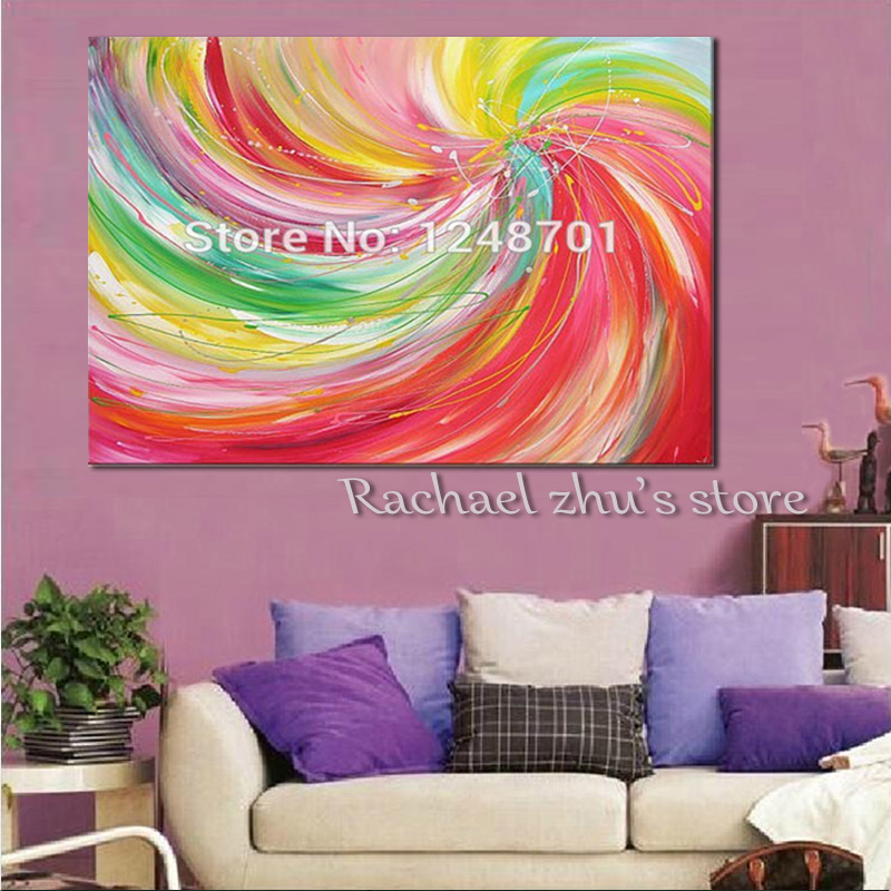 Handpainted Modern Abstract Acrylic Color Oil Painting On Canvas ...