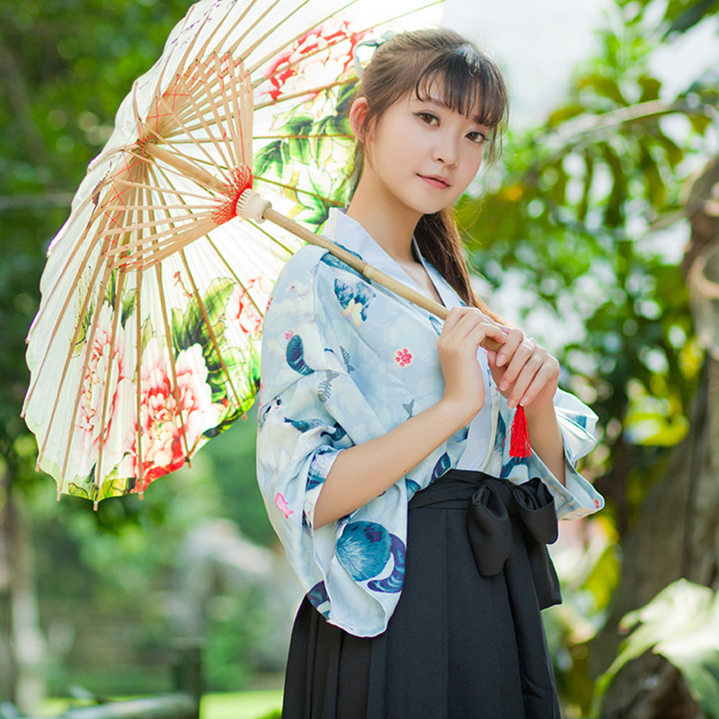 Japanese Dressing Gown: 2017 Summer Kimono Japanese Harajuku Yukata Robe Women