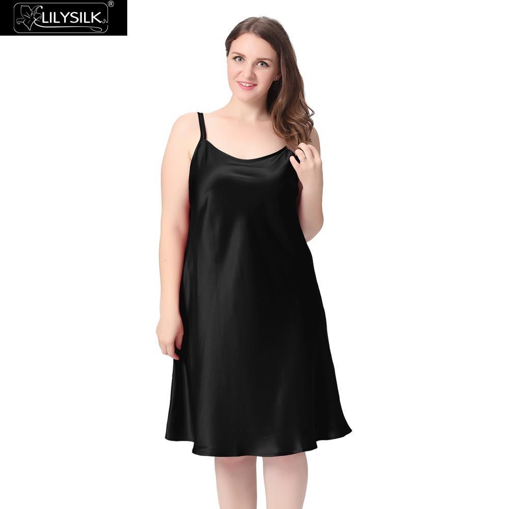 Lilysilk Women Silk Nightgowns Sleepwear Sexy Lingerie Elegant Royal Long  Pure Sleeping Dress Plus Size 22 Momme Wedding Luxury-in Nightgowns    Sleepshirts ... 032cb1480