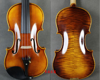 Free shipping handmade violin 4/4 3/4 solid wood Brown violin 4 String Instrument Craft Violino with Canvas Case and Brazil Bow