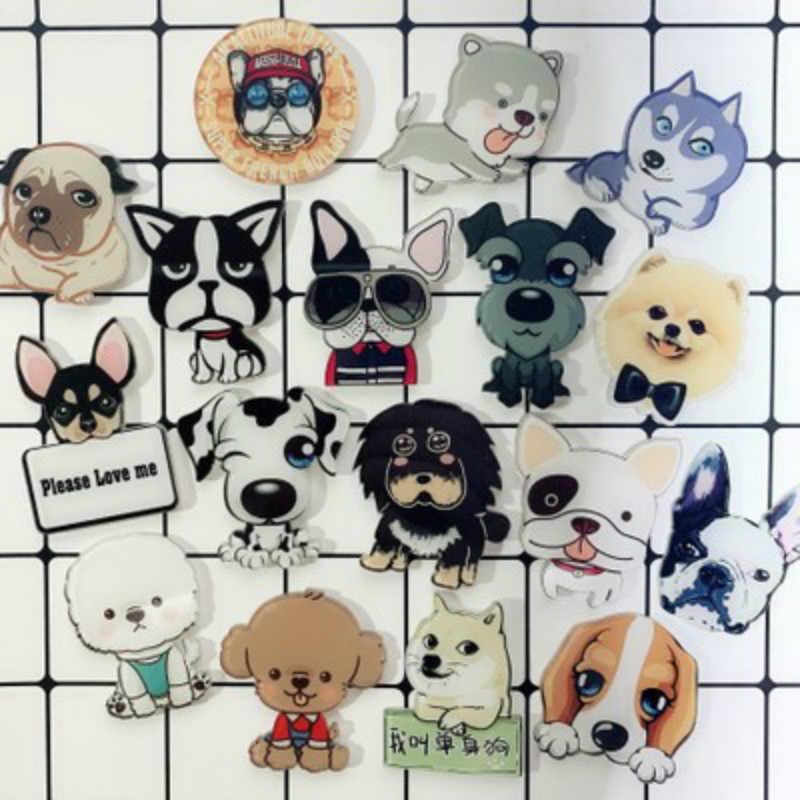 Suef 1 Pcs Lencana Lucu Hewan Peliharaan Bros Kartun Anjing Aksesoris Menggemaskan Dapat Dikirim Secara Acak @ 2