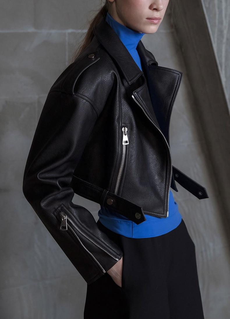Manteau Pu De Pur Femmes Mode Et Fourrure Européen Couleur Américain Automne Locomotive Style nWaUPWp