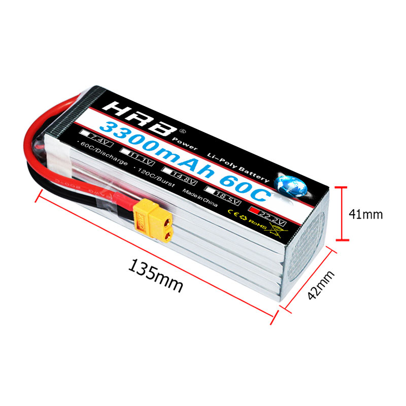 Image 3 - HRB RC Lipo Battery 3S 4S 5S 6S 3000mah 3300mah 3600mah 60C  Brust rate 120C for  trex 500 550 600E Align helicopter trex-in Parts & Accessories from Toys & Hobbies