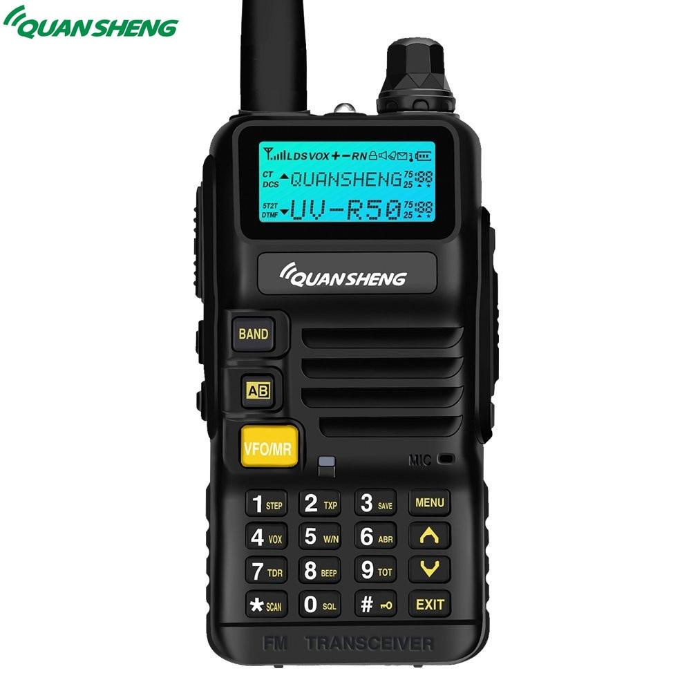 Quansheng UV-R50 Talkie Walkie VHF UHF Double Bande Longue Portée UVR50 De Poche CB 2 Way Radio UV R50 5 W FM Émetteur-Récepteur pour Huntin