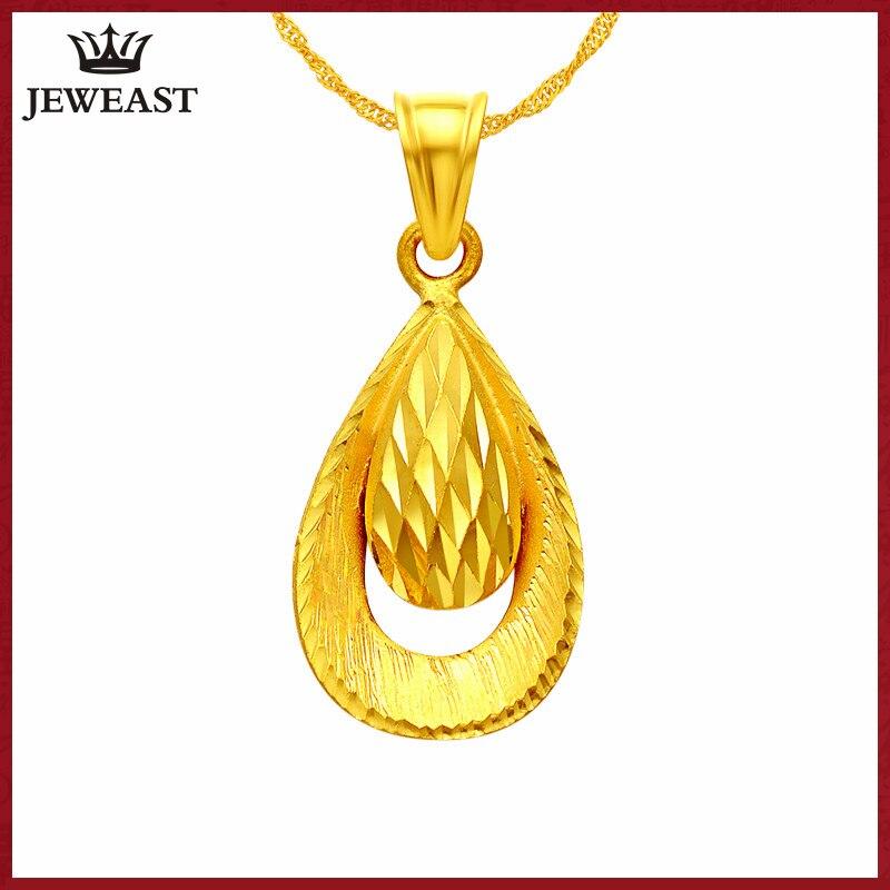 24 К из чистого золота Подвеска настоящий АС 999 Solid Gold очарование хороший простой падение высококлассные Мода Классические Вечерние Fine Jewelry л