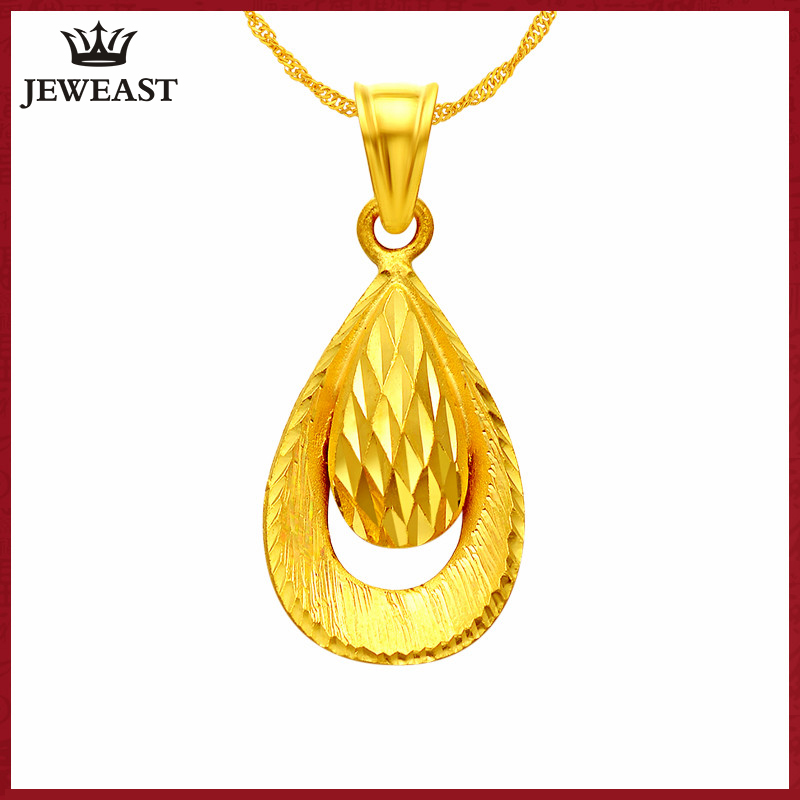 YSF 24K Pure Gold Pendant Real AU 999 Solid Gold Charm Nice Simple Drop Upscale Trendy Classic  Fine Jewelry Hot Sell New 2020