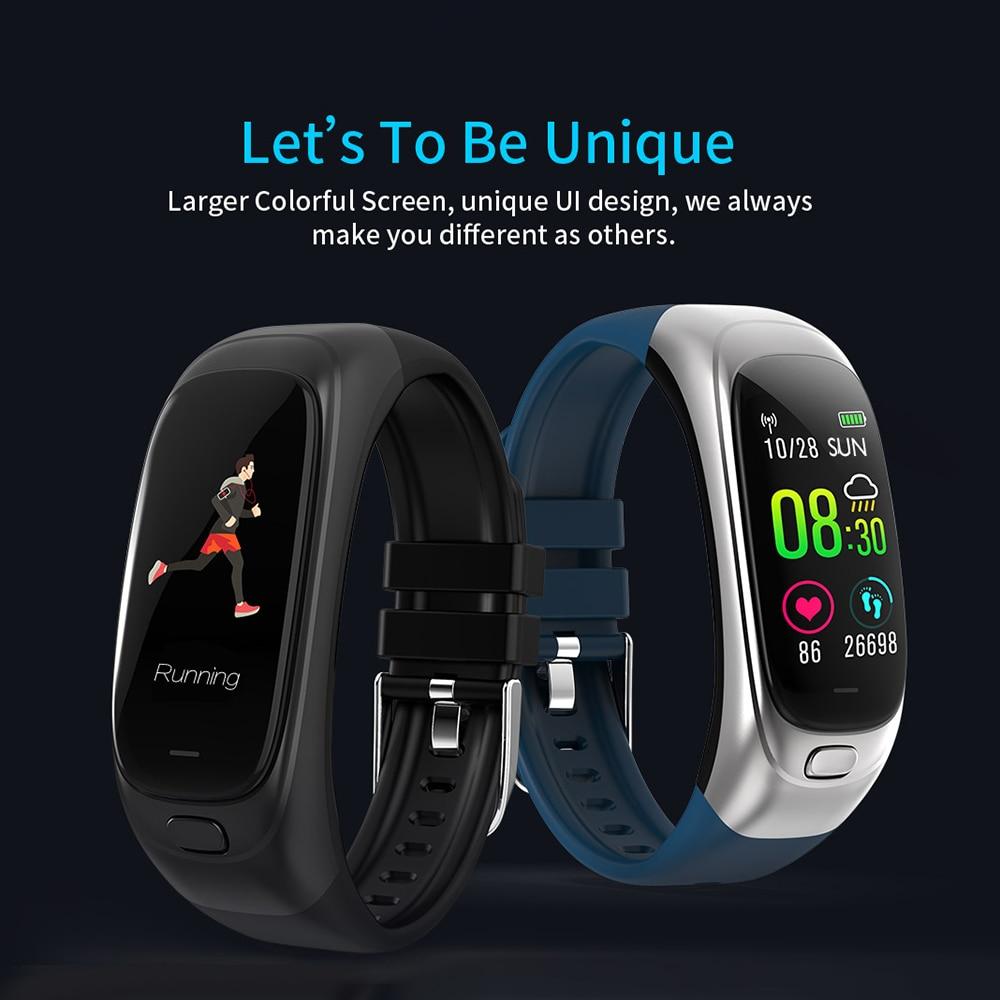 CES12 Fitness bracelet Tracker 32G USB lecteur Flash montre intelligente bande intelligente podomètre moniteur de fréquence cardiaque Sport montre pour hommes