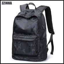 ZZINNA 2019 Simple Solid Men Backpack Black Laptop Backpack with Safe Independent Computer Bag 15.6 Teen School Backpack zaino футболка independent tcbtg black