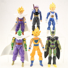 6pcs/lot Dragonball Z Dragon Ball Anime Goku Vegeta Gohan super saiyan Joint Movable Action Figure Toy Japanese 15CM