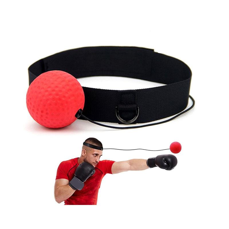 Hand Eye Training Set Head Mounted Boxing Reflex Ball Mma Sanda Boxer Raising Reaction Force Martial Arts Fitness Gym Exercise