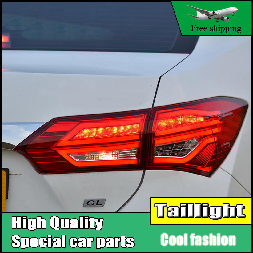 Car Styling Tail Lights For Toyota Corolla Altis 2014-2016 Taillights LED Tail Light Rear Lamp DRL+Brake+Signal Auto Accessories car styling tail light case for suzuki swift taillights 2005 2014 led tail lamp rear lamp drl brake park signal light