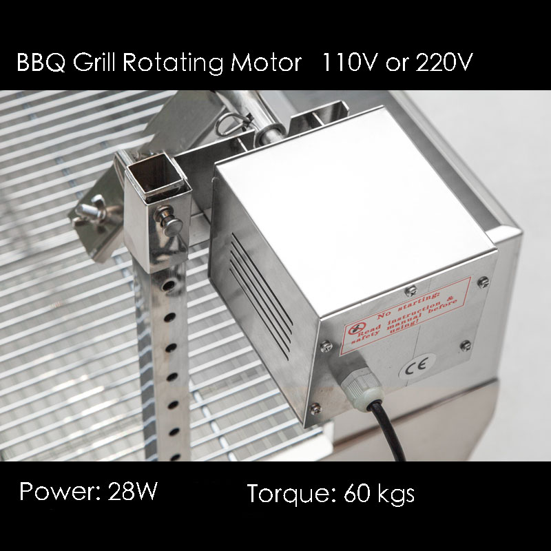 Free Shipping Rotated Motor for Stainless Steel BBQ Grill,Pig,Lamb,Goat,Chicken Spit Roaster,Spit Rotisserie