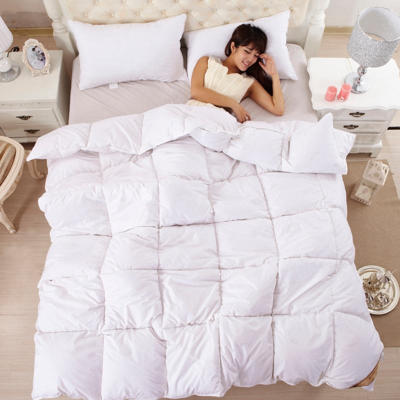 white goose down comforter king Hot White Goose Down Comforter Winter Quilts High Quality 100  white goose down comforter king