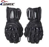 ألياف الكربون القفازات الجلدية الرجال للدراجات النارية سباق guantes الدراجات النارية luvas