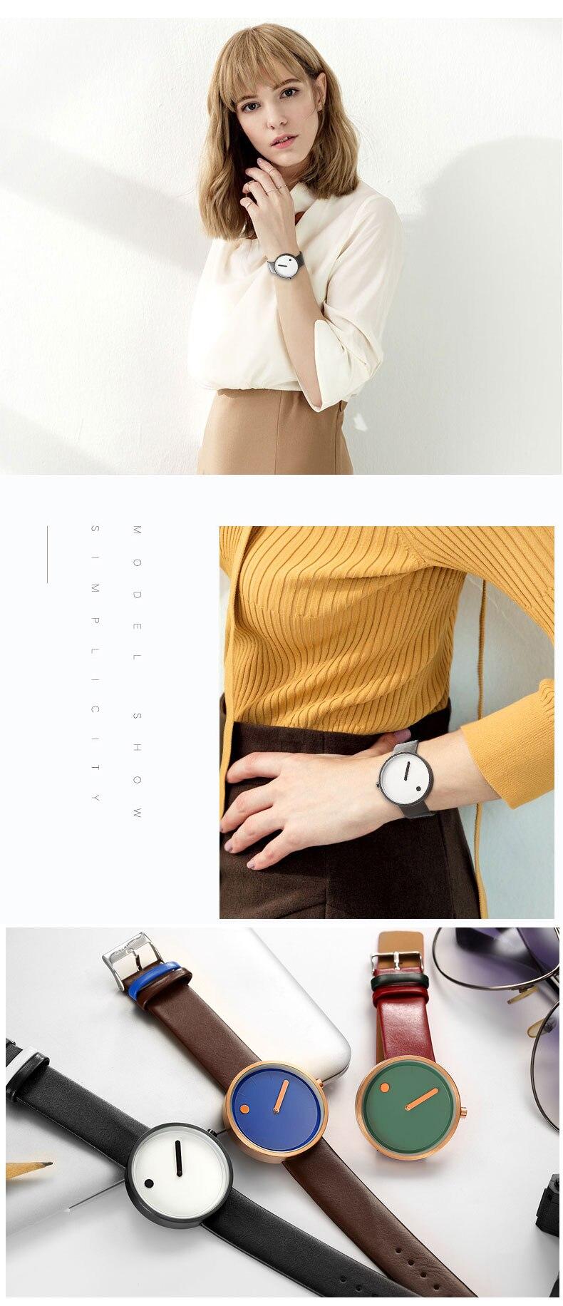 Luxury Designer Brand Quartz Watch Women Leather Casual Ladies Simple Wrist watch Girl Clock Female Creative Gift  relogio 11