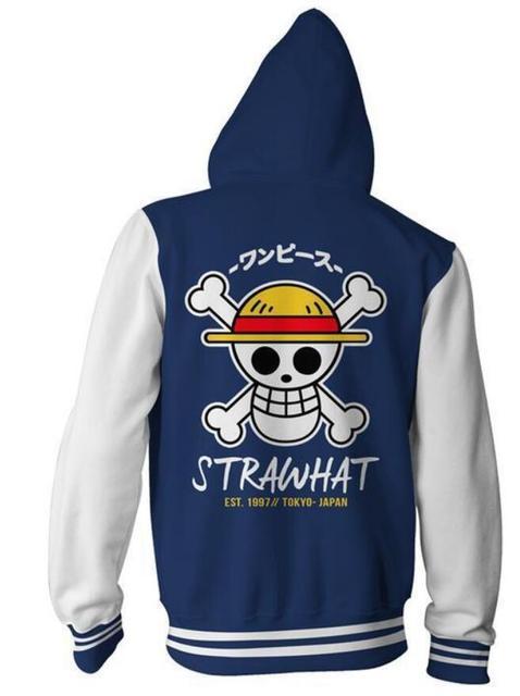 One Piece Ace Luffy White Beard 3D Jacket