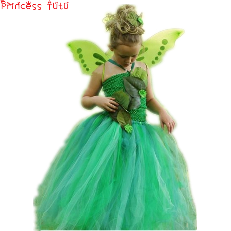 Kids, Dress, Party, Tutu, Pageant, Green
