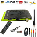2017 Más Reciente HD DVB-S2 1080 P Dual USB Receptor de Satélite Digital Soporte IKS Cccam Gscam & Power Vu Youtube Wifi Set Top Box