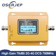 70dB LCD LTE 700 MHz B28B 4G telefon komórkowy powielacz i wzmacniacz sygnału nie w tym antena