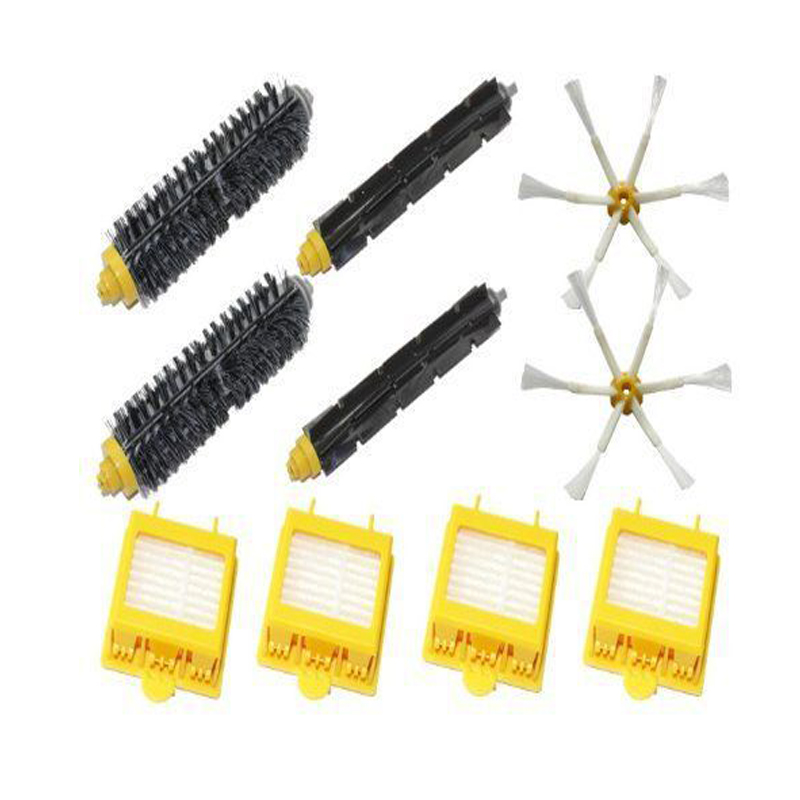 New Filters Beater & Bristle Brush Side Brush 6 armed Pack Big Kit for iRobot Roomba 700 Series 6 Armed 760 770 780 Free Post new extractor brushes kit new filters brush pack kit for 800 900 series