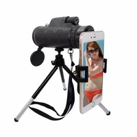 Universal 40x60 Zoom Telescope Lenses Stand Adapter with Tripod Holder Mobile Phone lens Kit For iphone Samsung Smartphone