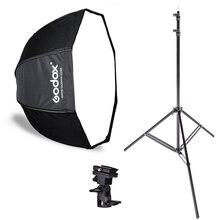 Фотостудия Godox 80 см софтбокс в виде ВОСЬМИУГОЛЬНОГО зонта осветительный стенд зонтик Горячий башмак кронштейн комплект для вспышки Speedlite вспышка для фотоаппарата