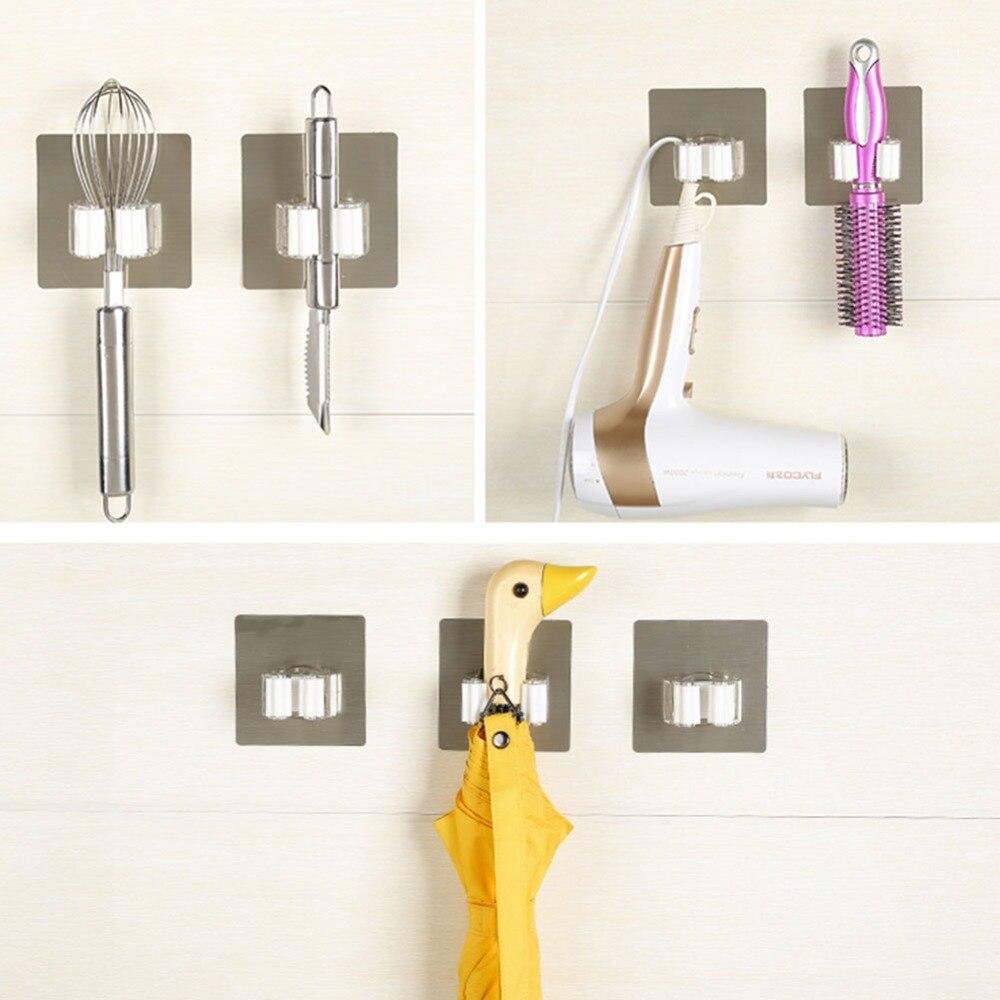Настенный крючок для швабры, подвесной стеллаж, Мощное всасывание, без ногтей, бесшовный держатель для хранения метлы, подставка для дома, ванной комнаты, кухни