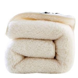 Image 4 - 100% קשמיר מזרן עיבוי אלמוגי קטיפה טאטאמי רך סופר חם צמר כרית מעונות מלון חורף מיטת מחצלת