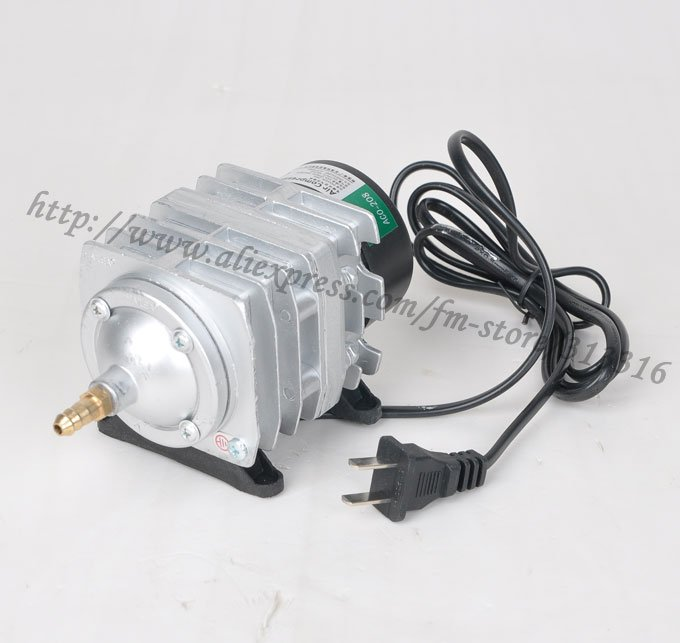 1piece new 45l min 25w hailea aco 208 electromagnetic air for Air pump fish tank