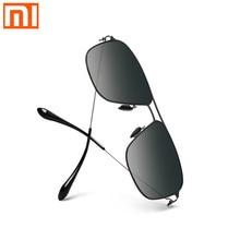 Солнцезащитные очки Xiaomi Mijia classic box Pro, серая Классическая квадратная оправа из нержавеющей стали с градиентом, поляризованные линзы с защитой от УФ и масел