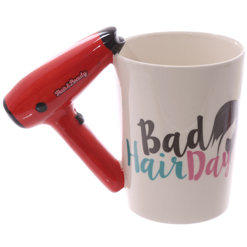 US $11 39 5% OFF|Free Shipping 1Piece Hair Dryer Ceramic Mug Ladies Tool  Hairdryer Mug Personalized Hairdresser Gift For Cosmetologist Salon Own-in