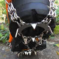 Escalada para exterior crampones antideslizantes 18 dientes de invierno de pesca en hielo zapatos de nieve de acero de manganeso antideslizantes cubiertas de zapatos