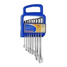 Набор гаечных ключей с храповым механизмом KRAFT КТ 700740 (8 шт от 8 до 19 мм)