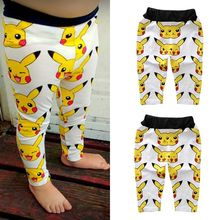 2016 Cute Cartoon Pikachu Toddler Infant Baby Boys Girl Harem Pants Trousers Leggings Bottoms 0-3T