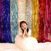 2 mx1m children birthday party decorations kids the rain curtain laser holiday wedding Christmas ша