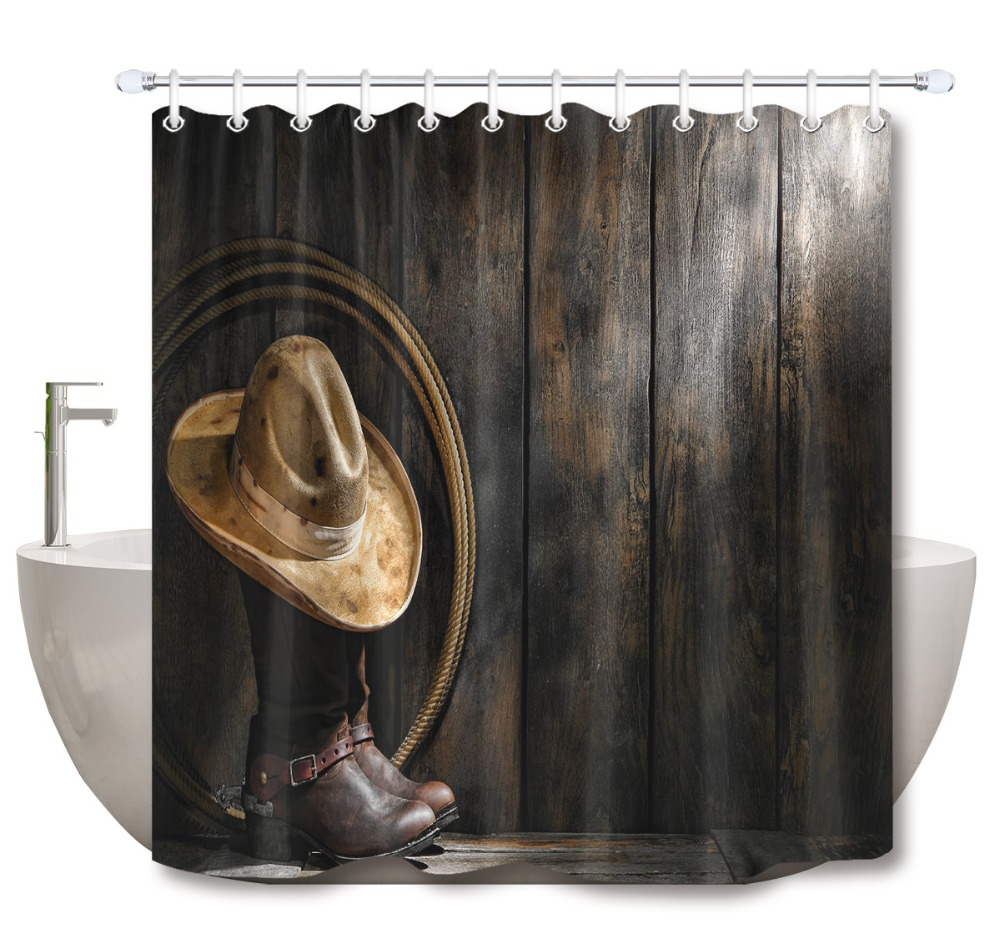 White lotus and waterfall Shower Curtain Waterproof Fabric /& 12 hooks 71x71inch