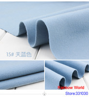 15# sky blue 1 meter double brushed middle thick cloth fabric for DIY colthes dress overcoat material