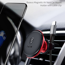 Baseus Magnetic Air Vent Car Mount Phone Holder with Cable Clip
