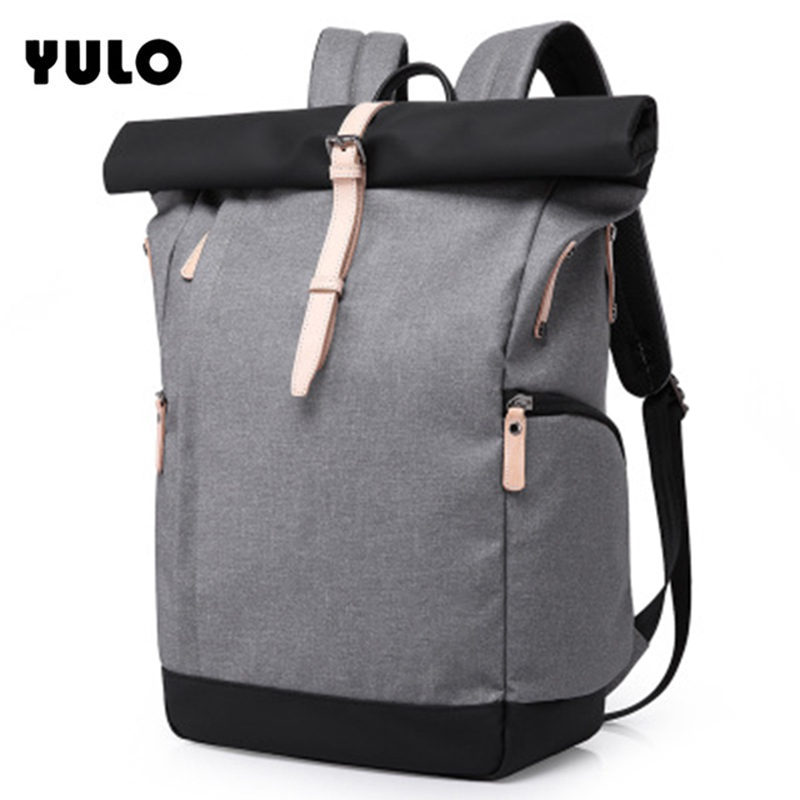 YULO Waterproof Large Capacity 15.6 Inch Laptop Bag Man Casual Fashion Backpack Panelled Women School Bags Mochila Masculina large capacity casual man backpack