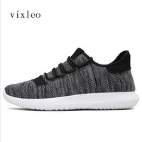 VIXLEO Casual Shoes Men Summer Breathable Mesh Men Shoes Lightweight Men Flats Fashion Casual Water Shoes