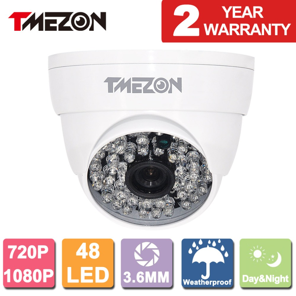 Tmezon AHD 720P / 1080P 1.0MP/2.0MP Dome Camera Home Security Surveillance CCTV System Auto IR-Cut Night Vision Up to 40m/130ft 4 in 1 ir high speed dome camera ahd tvi cvi cvbs 1080p output ir night vision 150m ptz dome camera with wiper