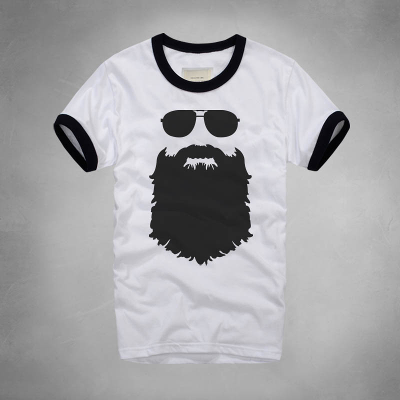 c284b8b4e Fashion Style Printed Beard T Shirt Casual Famous Brand Husband Gift Beer Short  Sleeve Gentleman Custom