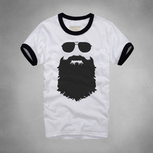NEW fashion style printed beard T shirt Casual famous brand Husband Gift Beer short sleeve Gentleman Custom Printed tee shirt