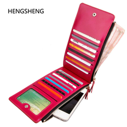 Hot sale pu leather women wallet new arrival brand colorful long coin purse good man card.jpg 250x250