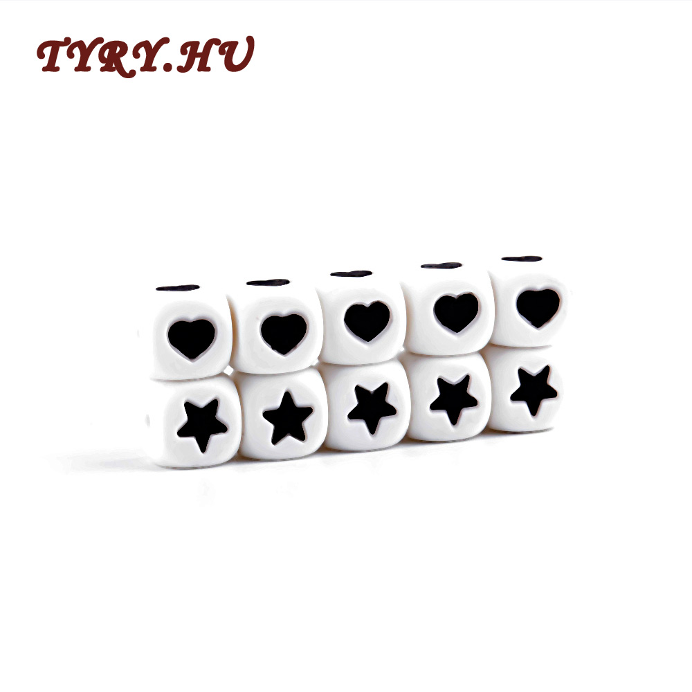 TYRY.HU 5pc Alphabet Silicone Letters Cube Beads Personalized Any Name Pacifier Chain Clips 12mm Chewing Alphabet Beads DIY 10pc cube silicone letter beads personalized name letter bracelet chewing alphabet beads food grade silicone 12mm