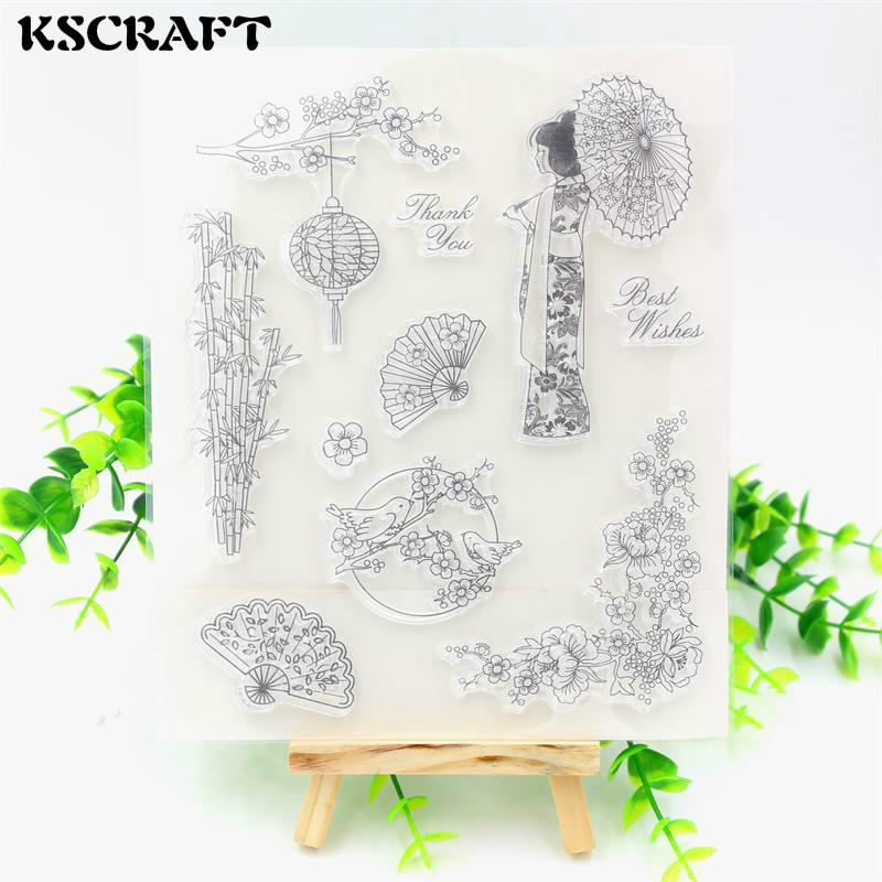 KSCRAFT Japan Transparent Clear Silicone Stamps for DIY Scrapbooking/Card Making/Kids Crafts Fun Decoration Supplies
