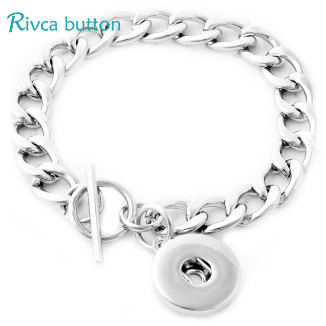 P00683 hot sale newest  fit 18mm button metal chain  snap button chain charm bracelet jewelry