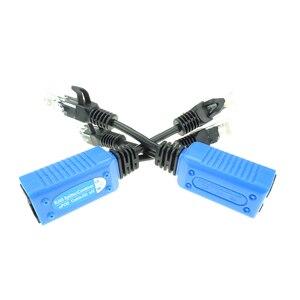 Image 4 - 2 шт./1 пара RJ45 Сплиттер Сумматор uPOE кабель, две камеры POE использовать один сетевой кабель адаптер POE разъемы Пассивный кабель питания