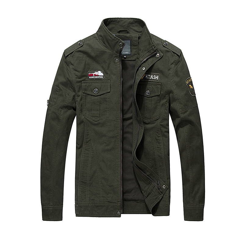 army Taille Noir Plus Haute kaki De Fit Top Conception Coton Fashion Slim Veste Qualité Bomber Automne 2016 Hommes Green Manteau La 8TfUqwW